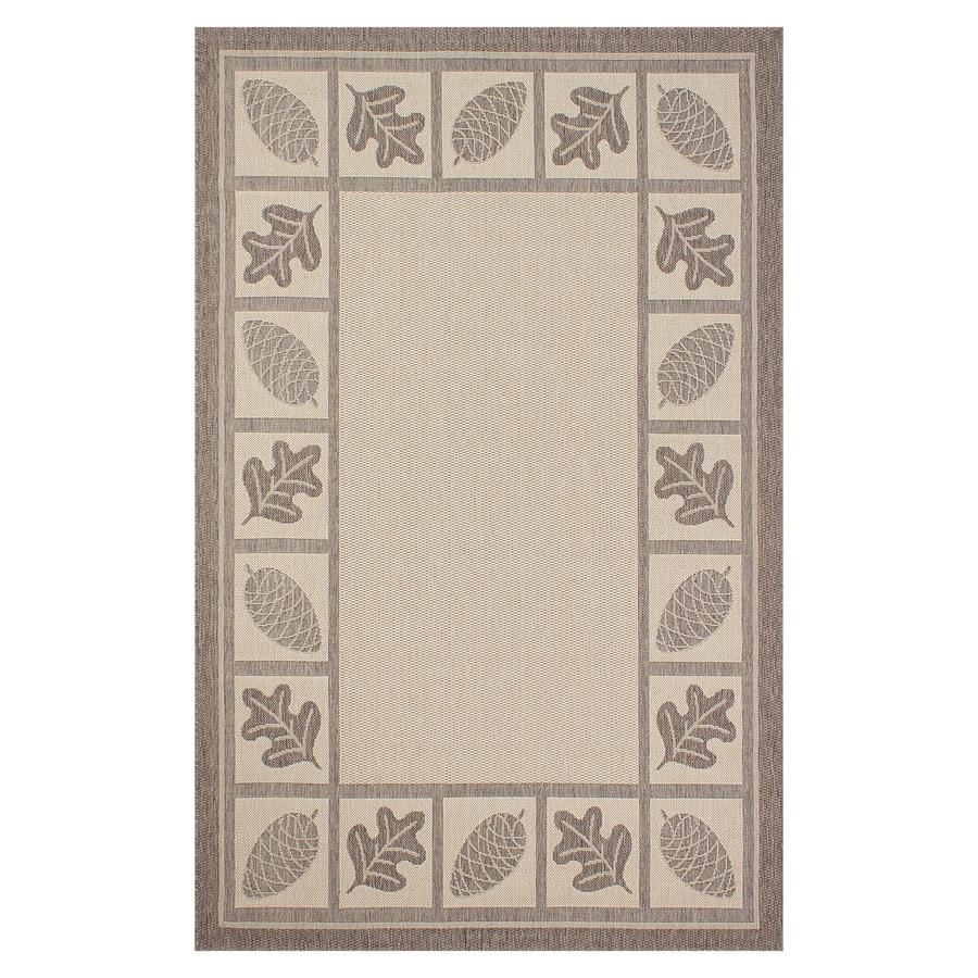 Segma Bahamas Light brown Rectangular Indoor/Outdoor Machine-made Nature Throw Rug (Common: 2 X 3; Actual: 2-ft W x 3-ft L)