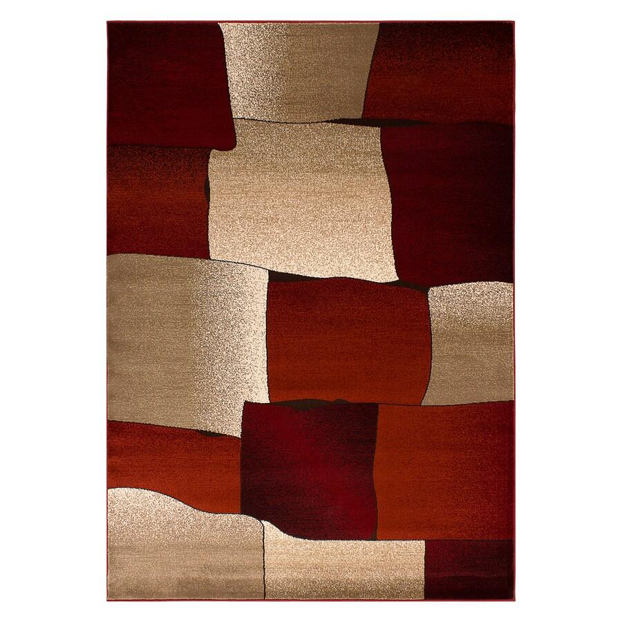 Segma Monaco Red Rectangular Indoor Machine-made Area Rug (Common: 5 X 8; Actual: 5.25-ft W x 7.5-ft L)
