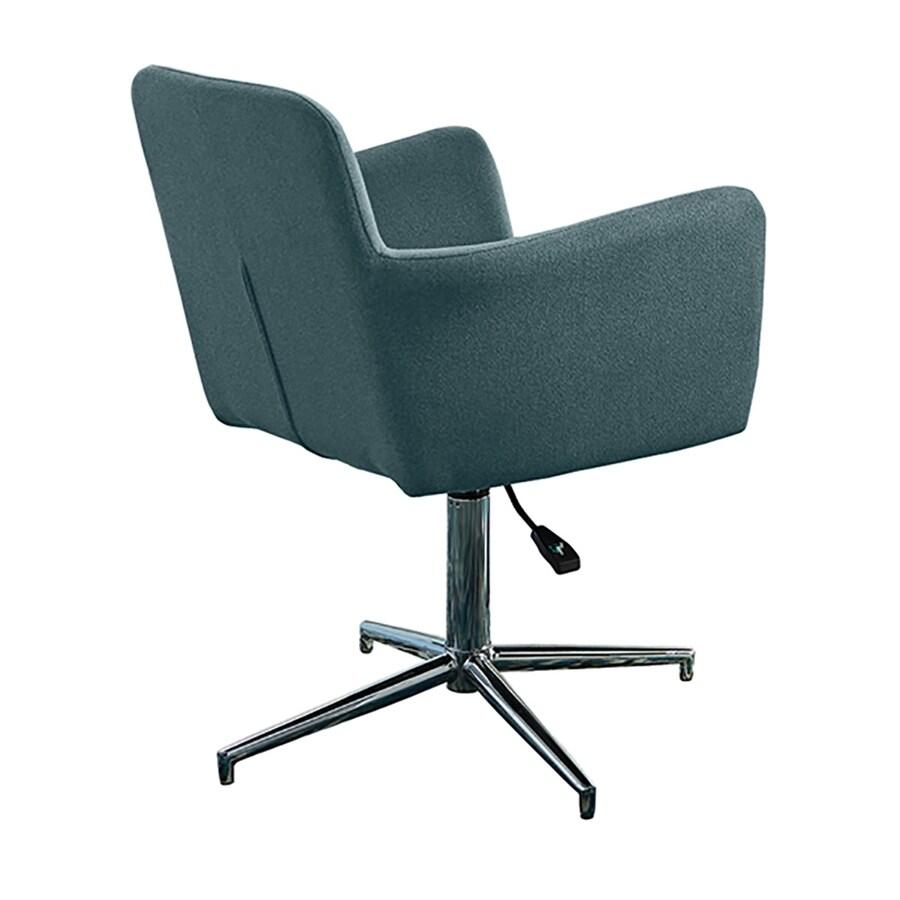 Scott Living Set of 2 Contemporary Blue Arm Chairs