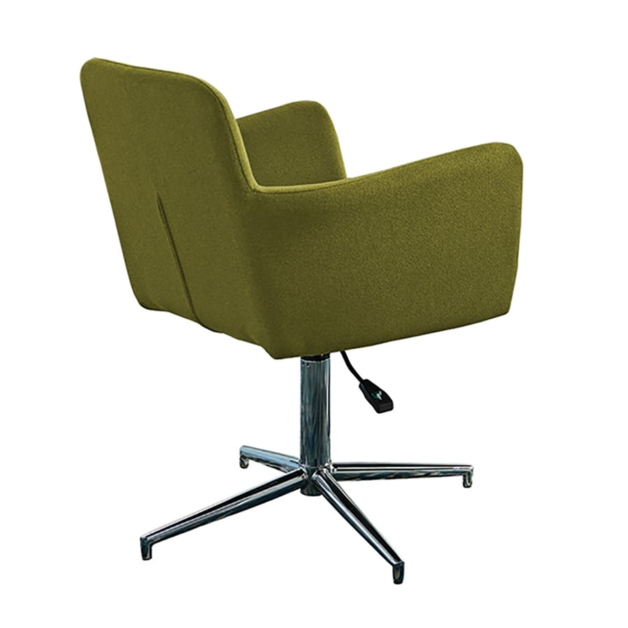 Scott Living Set of 2 Contemporary Chartreuse Green Arm Chairs