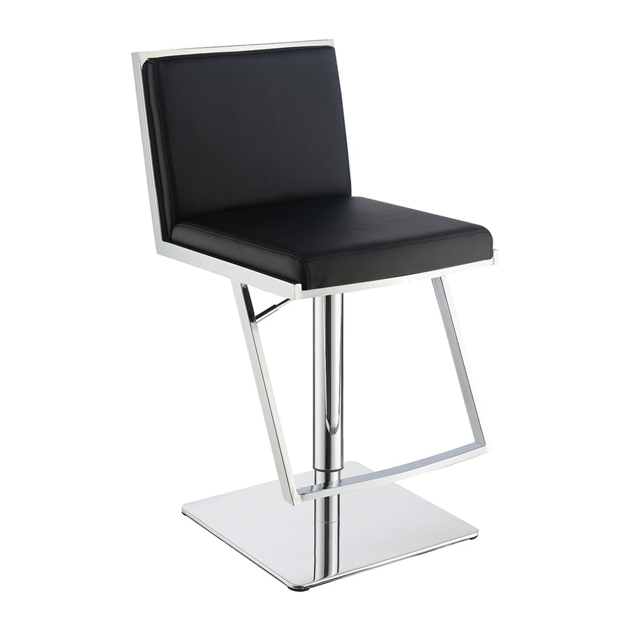 Scott Living Dixon Modern Black Adjustable Stool