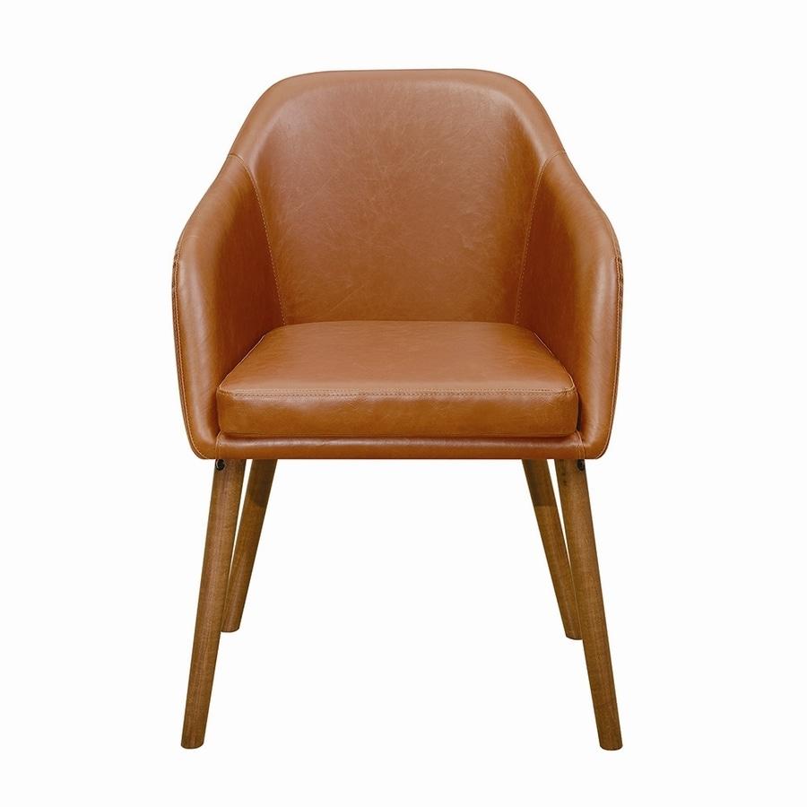 Scott Living Set of 2 Contemporary Cognac Arm Chairs