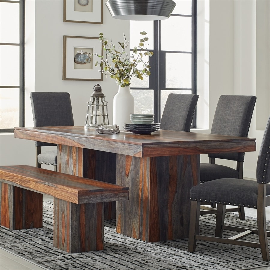 Shop Scott Living Grey Sheesham Wood Dining Table At Lowes.com