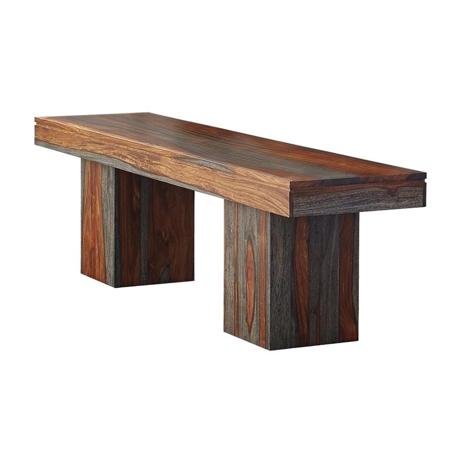 Scott Living Gray Sheesham Wood Dining Bench