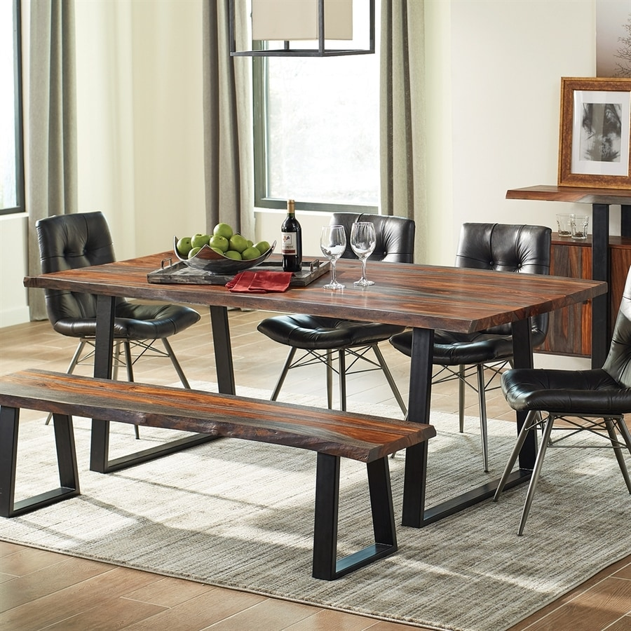 Scott Living Grey Sheesham Wood Dining Table