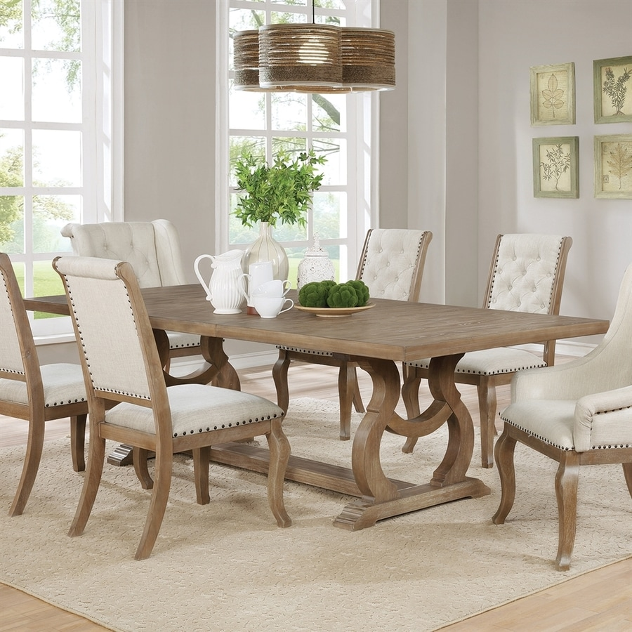 Scott Living Barley Brown Wood Dining Table