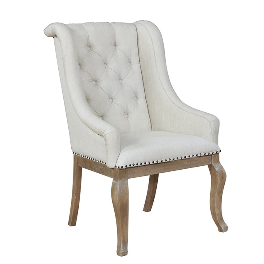 scott living set of 2 traditional cream wingback chairs