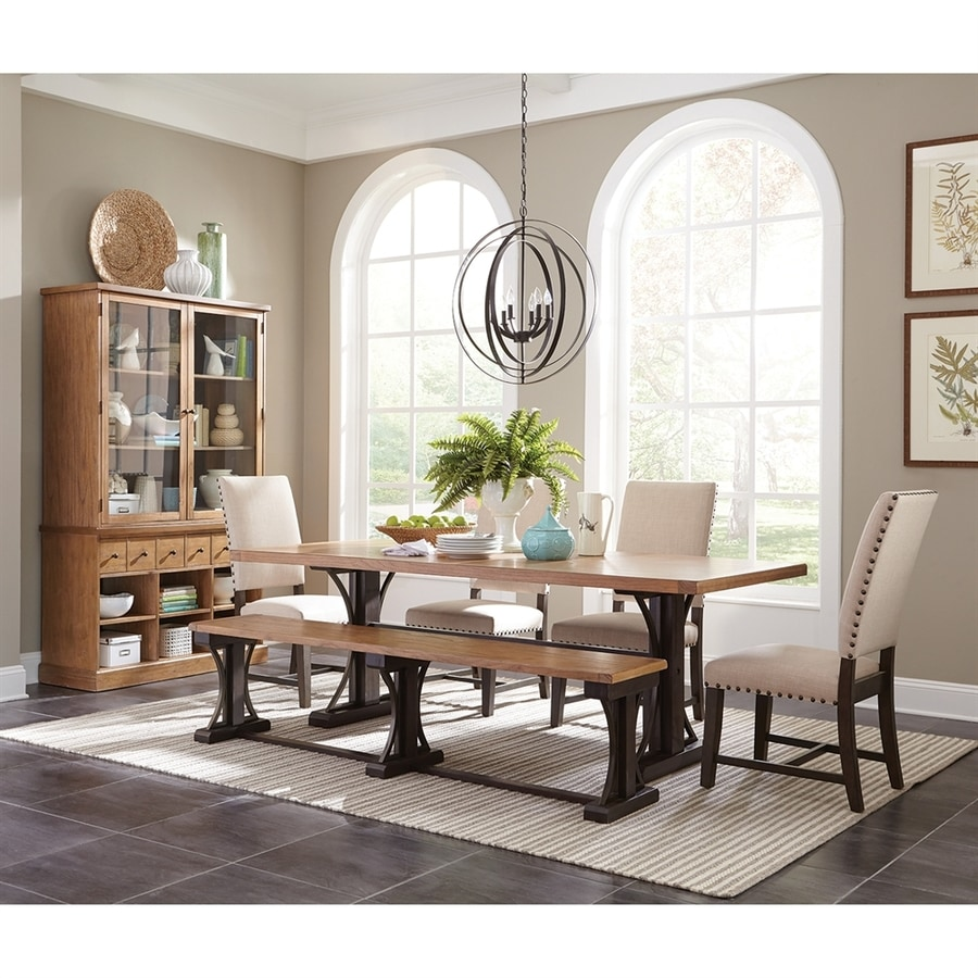 Scott Living Drifted Pine Wood Dining Table