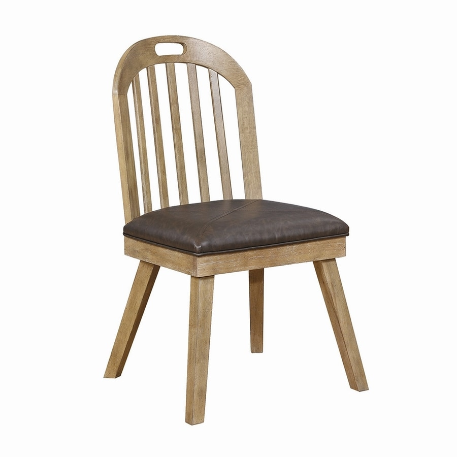 Scott Living Set of 2 Brown Side Chairs