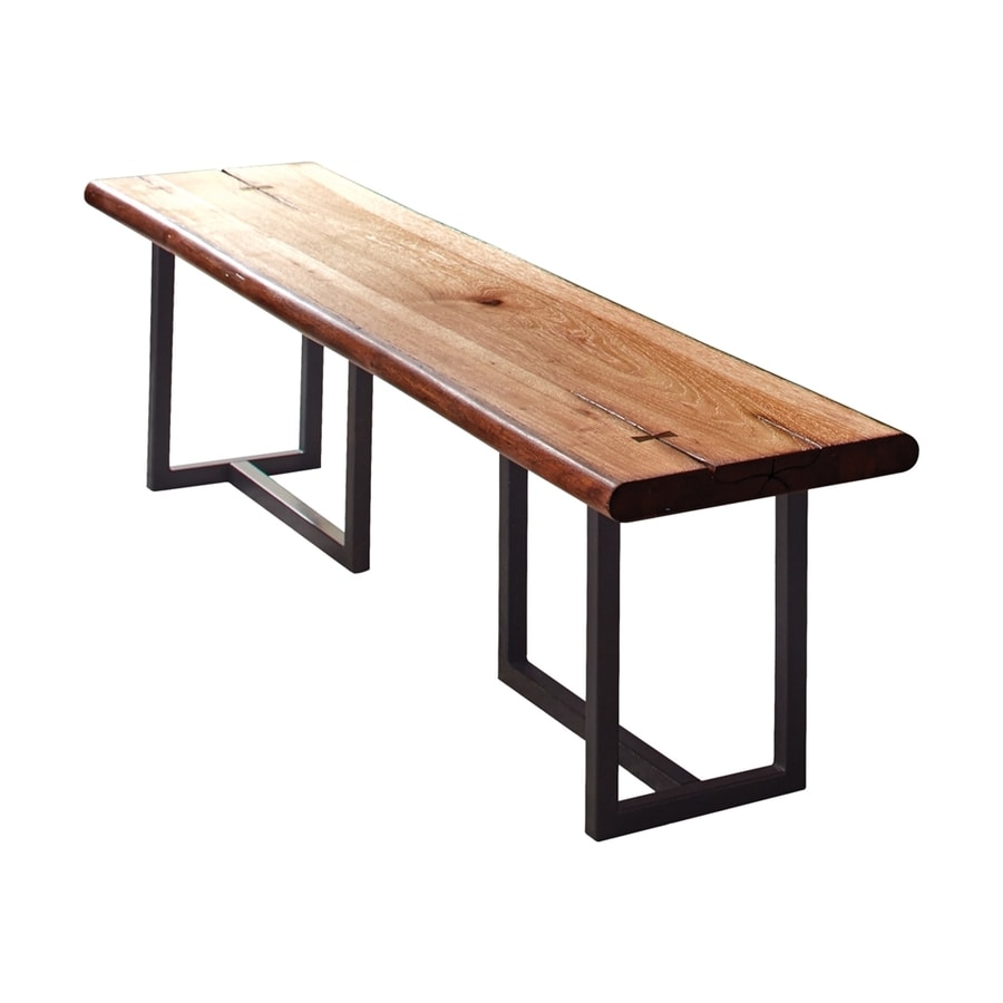 Shop Scott Living Natural Honey Live Edge Dining Bench At