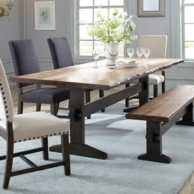 Scott Living Natural Honey Wood Live Edge Dining Table Part 84