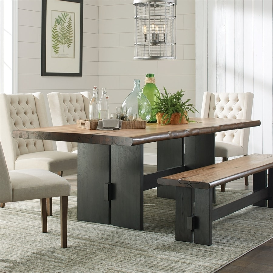 Scott Living Natural Honey Wood Live Edge Dining Table