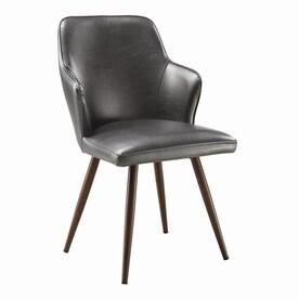 Scott Living Set Of 2 Contemporary Metallic Grey Side Chairs