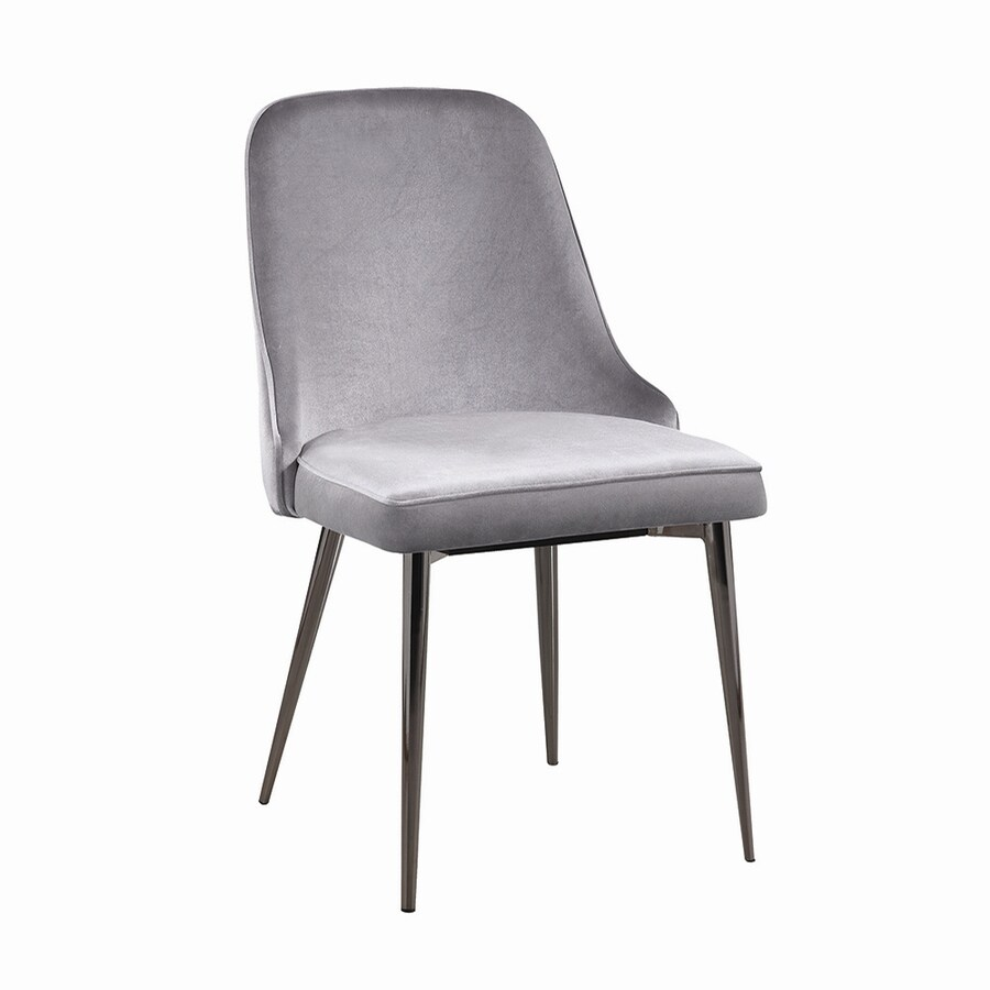 Scott Living Set of 4 Contemporary Grey Side Chairs