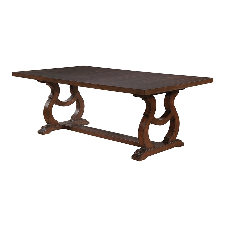Scott Living Antique Java Wood Extending Dining Table