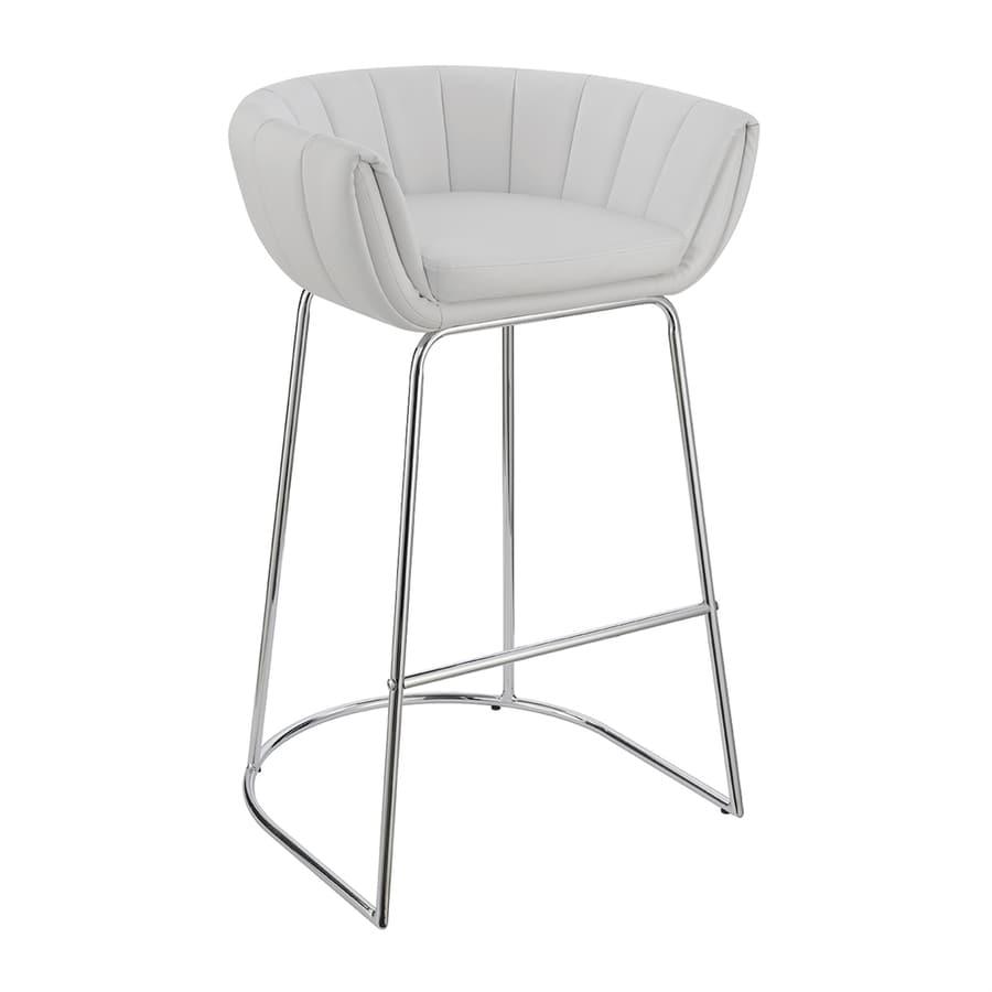 Scott living dixon set of 2 modern white bar stools