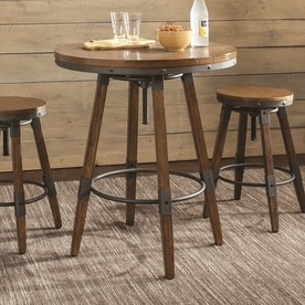 wood kitchen furniture. Scott Living Weathered Brown Wood Round Bar Table Kitchen Furniture