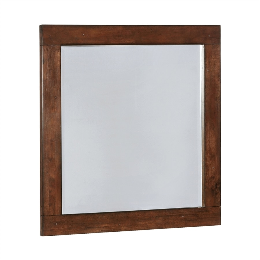 Shop Scott Living Dark Cocoa Polished Vanity Mirror at Lowes.com