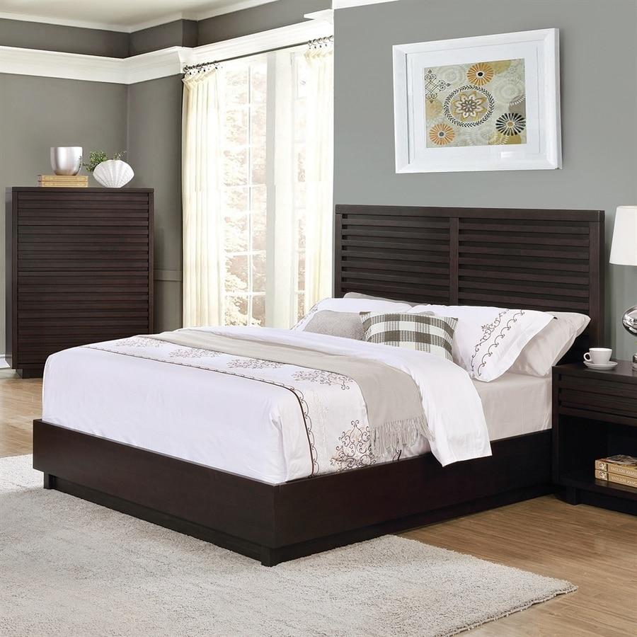 Scott Living Graphite Queen Platform Bed