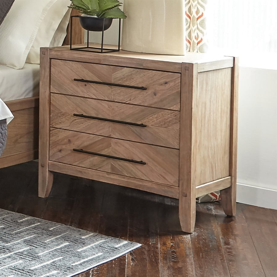 scott living white washed natural mahogany nightstand