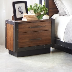 Scott Living Vintage Bourbon Acacia Nightstand Shop Bedroom Furniture at Lowes com