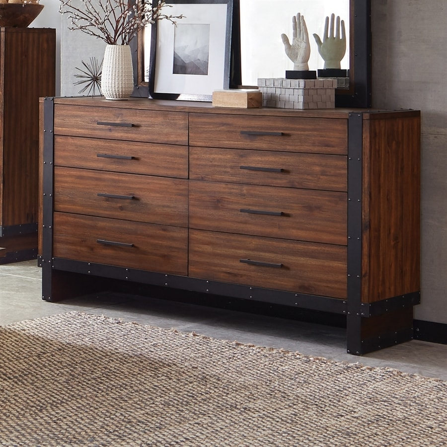 Scott Living Vintage Bourbon Acacia 8-Drawer Double Dresser