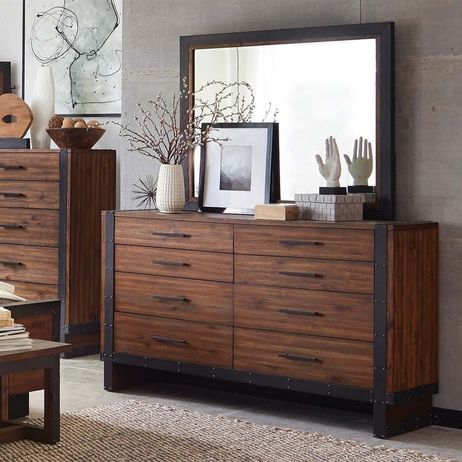 Scott Living Ellison Vintage Bourbon Acacia 8-Drawer Double Dresser