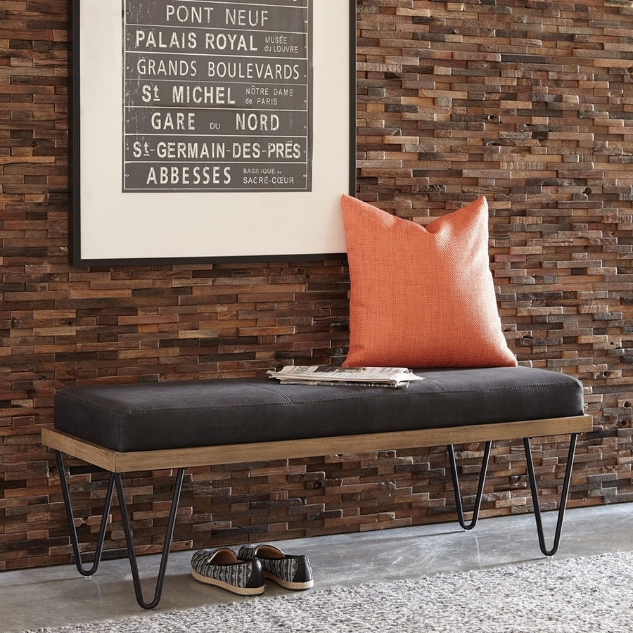 Scott Living Contemporary Black Accent Bench