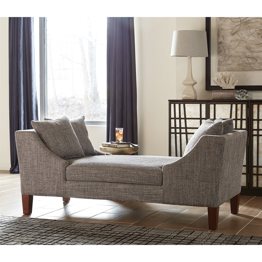 Scott Living Midcentury Gray Chaise Lounge