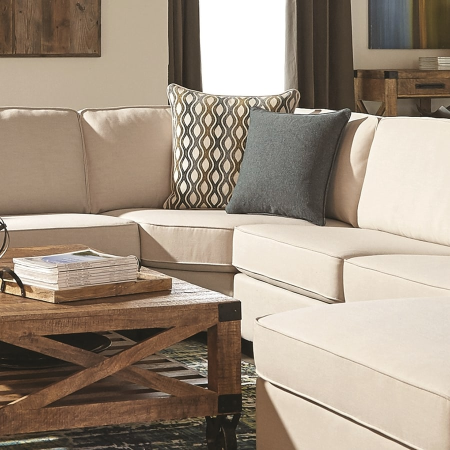 Scott Living Casual Ivory/Espresso Sectional Armless Corner Chair