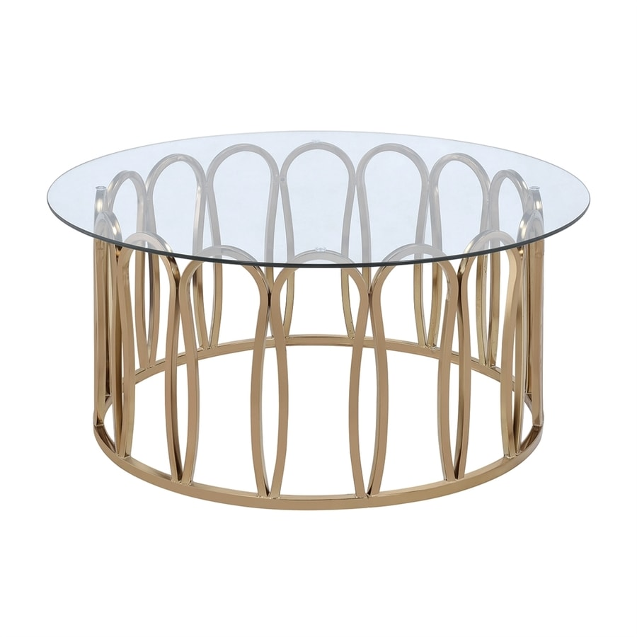 Shop scott living clear glass round coffee table at Clear coffee table