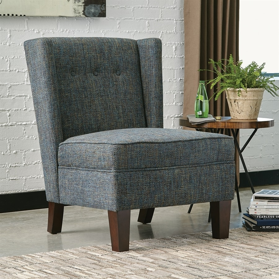 Scott Living Midcentury Royal/Cappuccino Wingback Chair