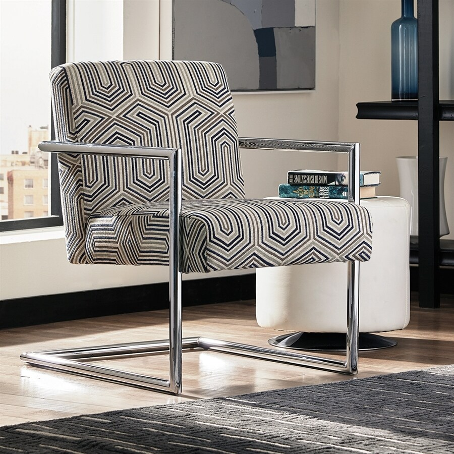 Scott Living Modern Grey/Blue Accent Chair