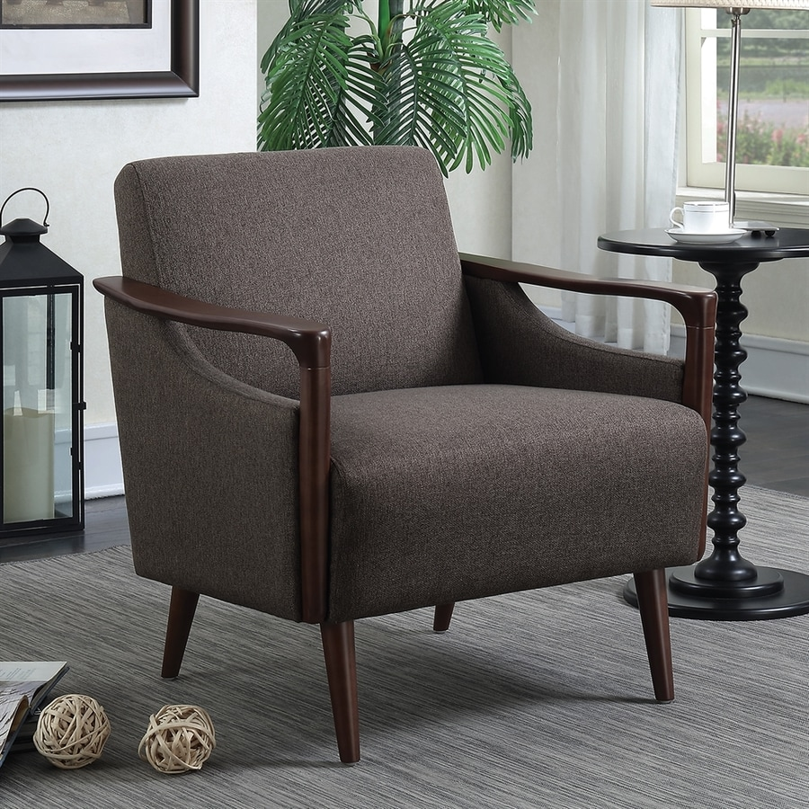 Scott Living Midcentury Winston Sable/Brown Accent Chair