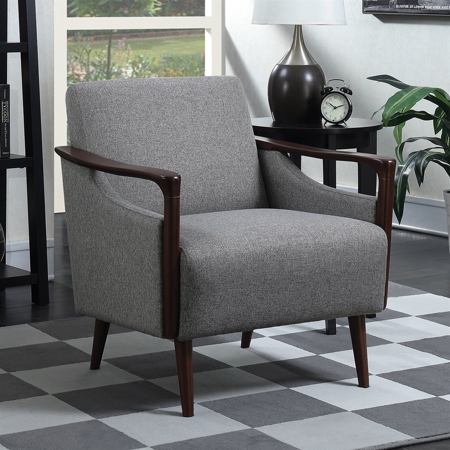 Scott Living Midcentury Winston Granite/Brown Accent Chair