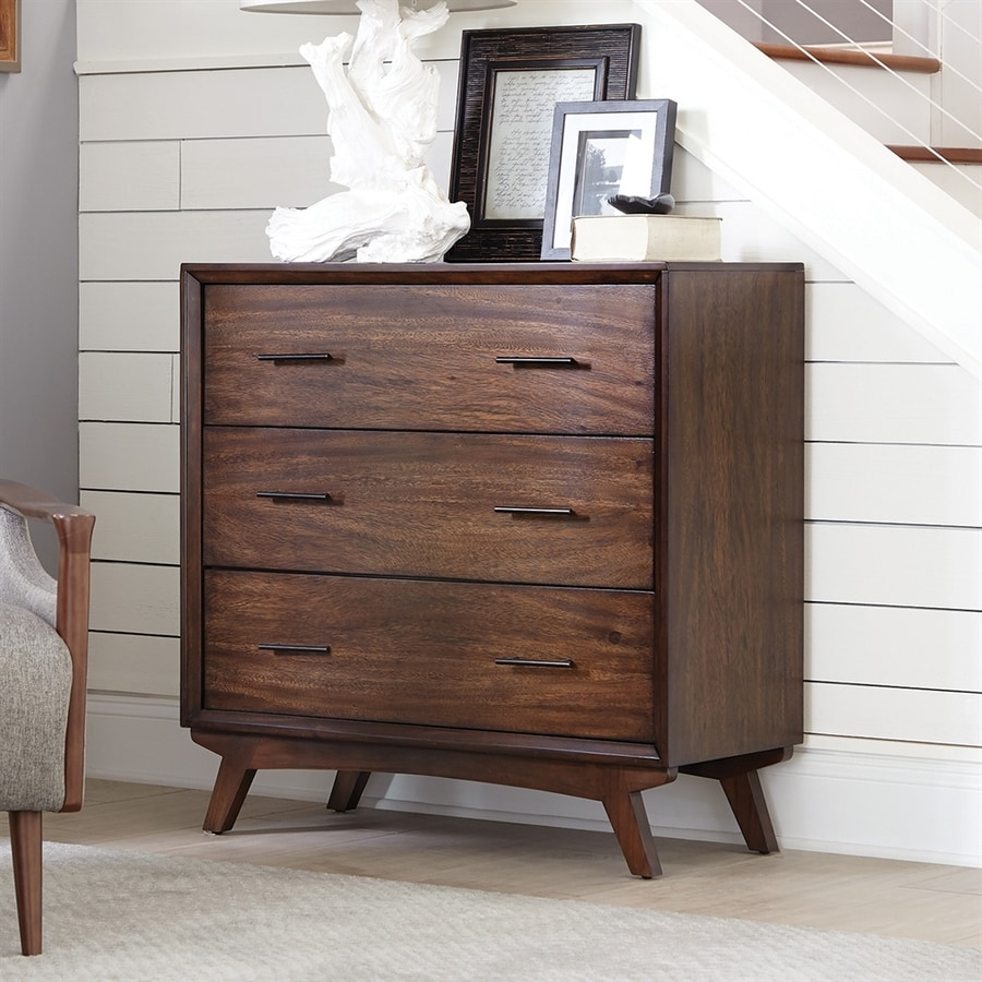 Scott Living Warm Brown Mahogany 3-Drawer Standard Chest