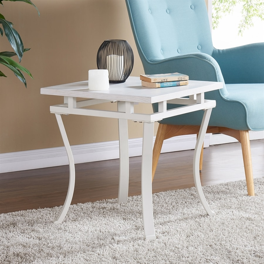Boston Loft Furnishings Eilauver Antique White End Table
