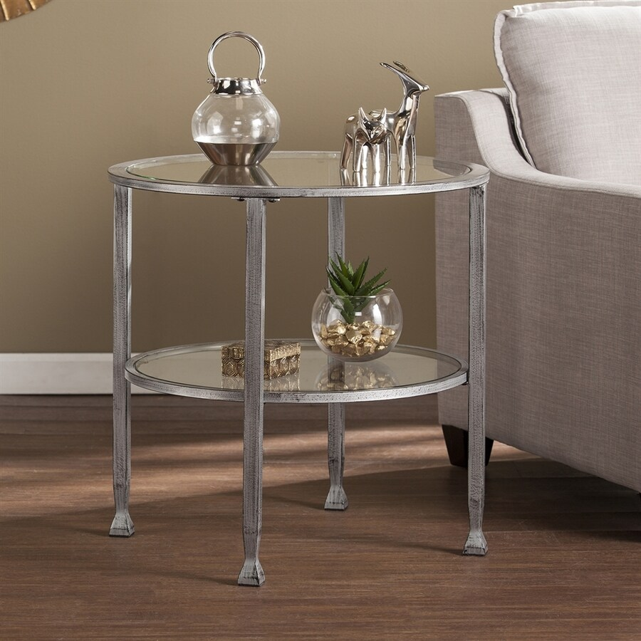 Boston Loft Furnishings Lea Distressed Silver End Table