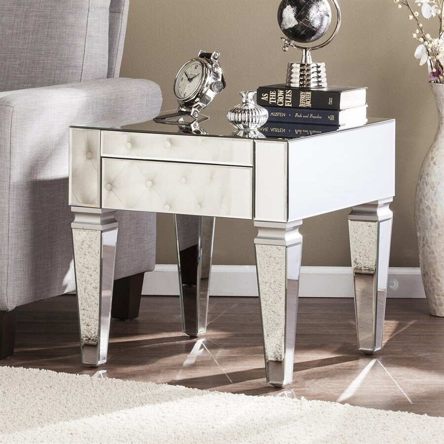 Boston Loft Furnishings Darvo Silver Fir Square End Table