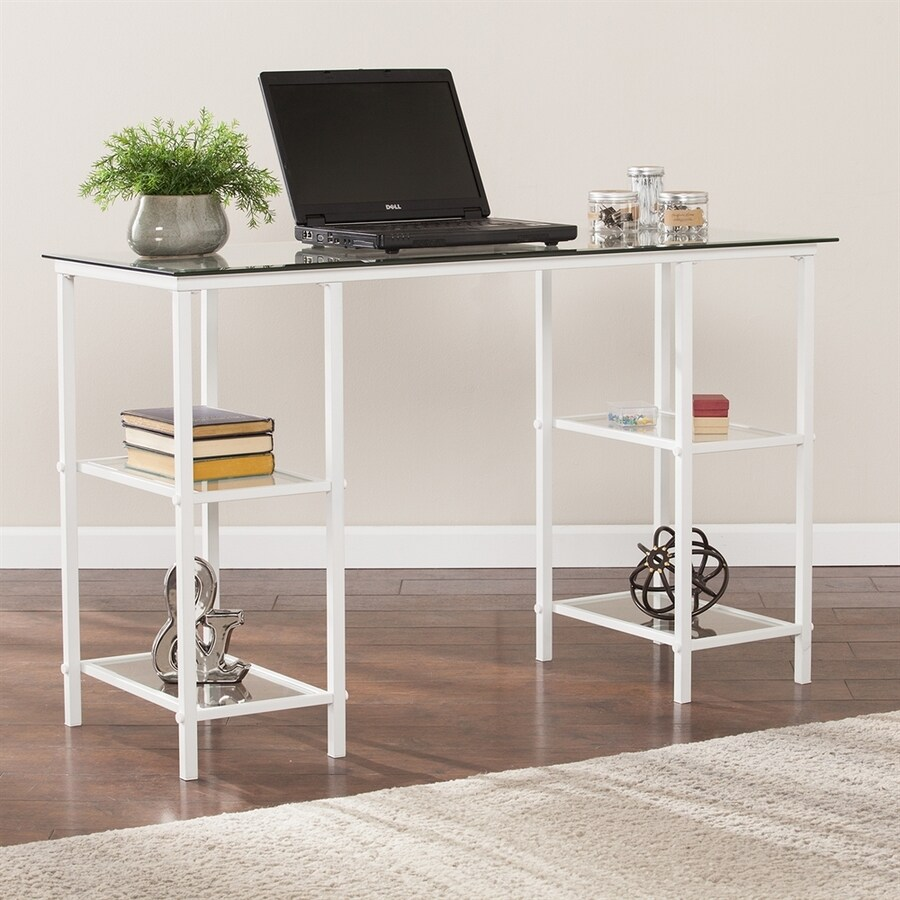 Boston Loft Furnishings Aimos Contemporary Clear Writing Desk