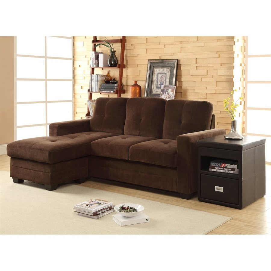 Homelegance Phelps Casual Chocolate Sectional