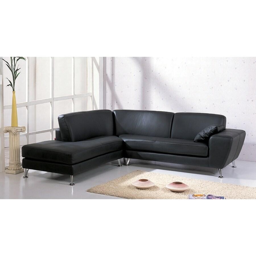 Beverly Hills Furniture Julie Scandinavian Black Sectional