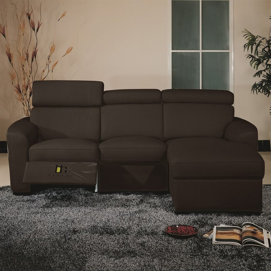 Beverly Hills Furniture Mica Casual Brown Reclining Sectional