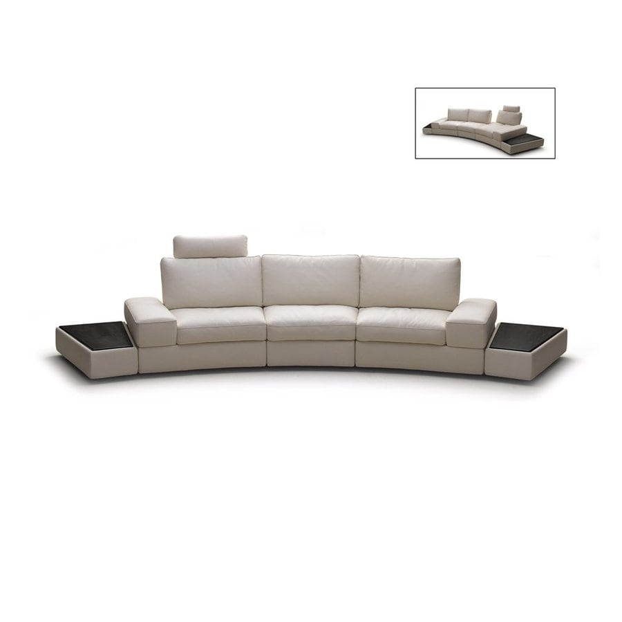 Beverly Hills Furniture Modi Casual Gray Genuine Leather Sectional