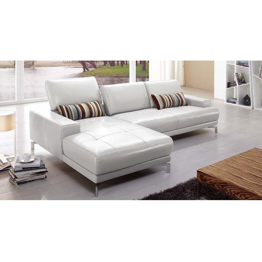Genuine Leather Sectional Sofa Canada: Beverly Hills Furniture Urban Modern Gray Genuine Leather