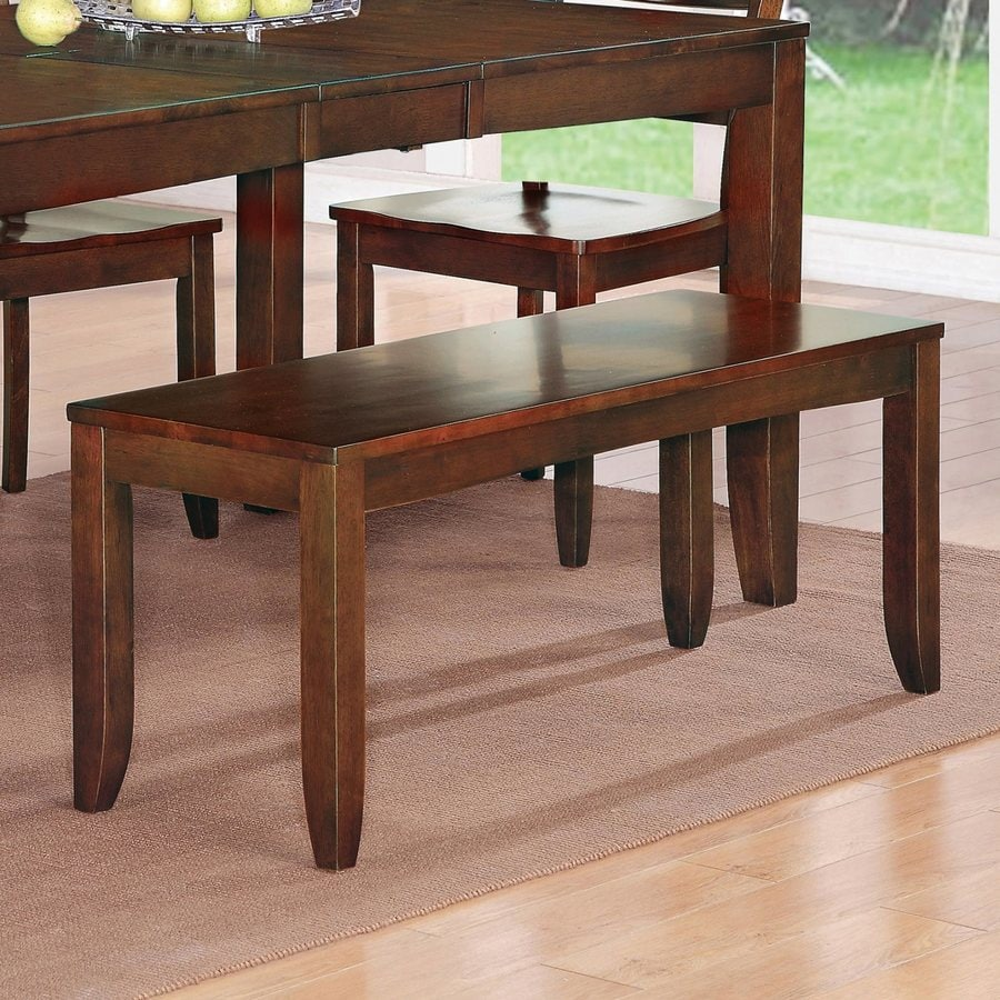 East West Furniture Dudley Mahogany Dining Bench