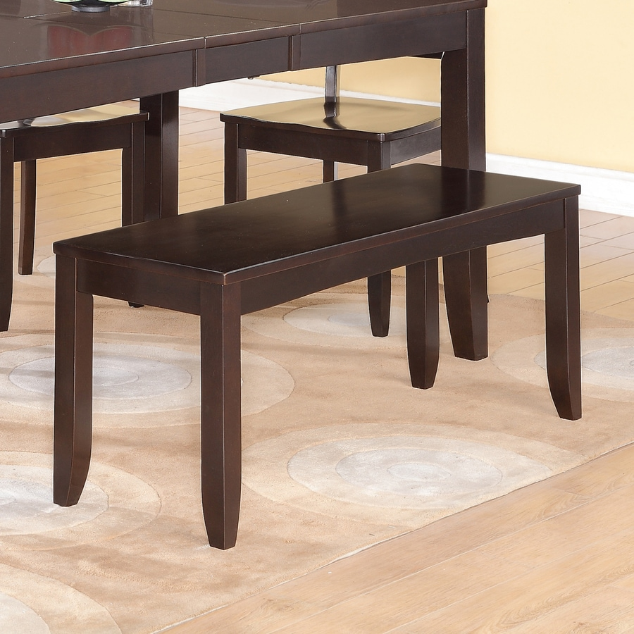 East West Furniture Lynfield Cappuccino Dining Bench