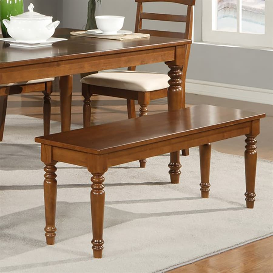 East West Furniture Walnut Dining Bench