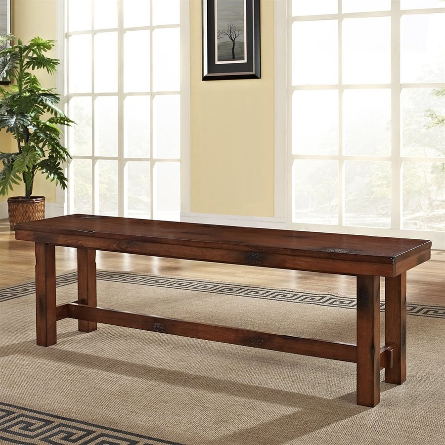 Walker Edison Dark Oak Dining Bench