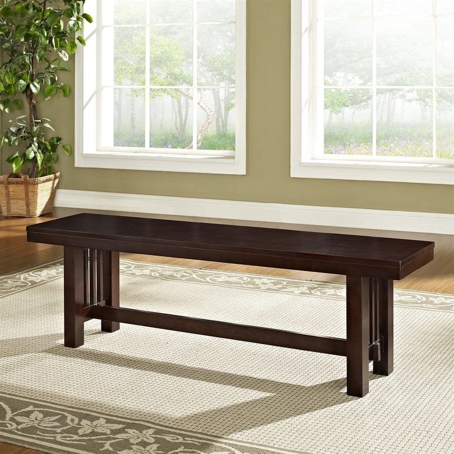Walker Edison Cappuccino Dining Bench